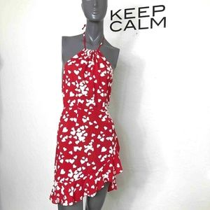 Flynn Skye Monica Mini Dress Red White Heart Print
